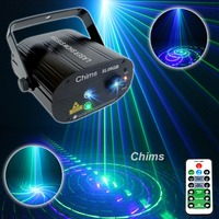 Chims DJ Laser Lighting 3 Lens 9 Pattern Club GB Laser Blue LED Stage Home Party Professional Projector Xmas Light Disco L09GB