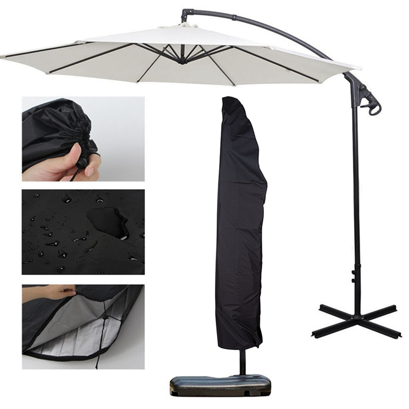 New Outdoor Patio Overhang Parasol Rain Cover Waterproof Oxford Cloth Garden Banana Umbrella Cover Accessories Rain Gear