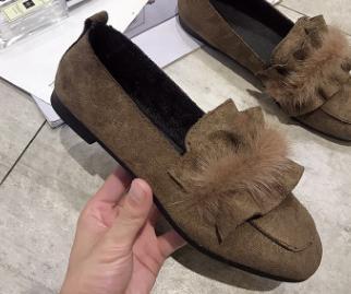 Nuevos 2018 La Baja Más marrón Mujeres Perezosos Piel Negro De Cuadrada Zapatos Cabeza Boca SdAwd16qx