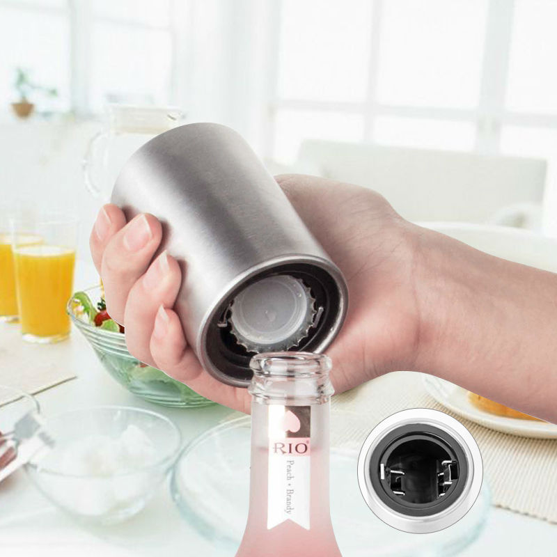 Stainless Steel Bottle Opener Automatic Beer Soda Cap Wine Drinking Bottle Opener Set kitchen accessories kitchen Tools gadgets 10