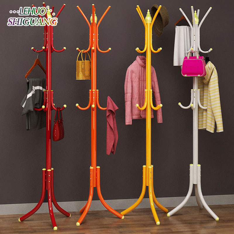 DIY assembly Coat Rack Stainless steel Simple Assembly can be removed Bedroom Furniture Hanging storage clothes hanger wardrobe