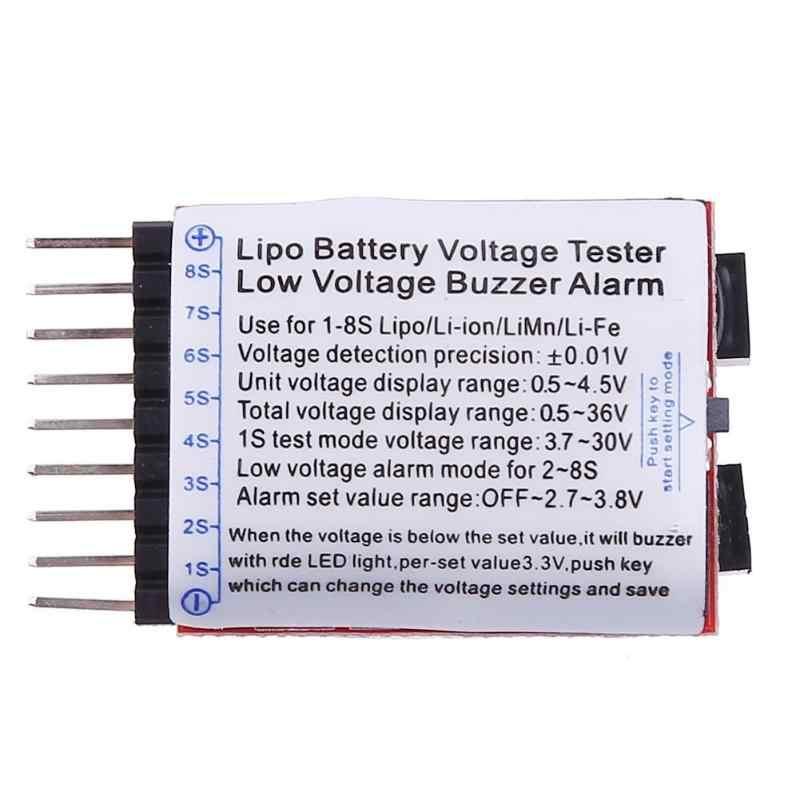 1-8S שאיבה/ליתיום סוללה מתח RC צעצוע חלקי LED מחוון Tester זמזם אזעקה למדוד מטר כפול רמקול בודק כלי