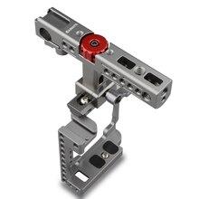 Camvate ручной Камера клетка с QR сыр ручка для Sony A6500, A6000, A6300 (титан, красный ручку) C1596