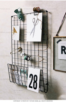 Wrought iron wall frame wall grid pictures. Creative group of the sitting room the bedroom hanging shelf personality diy