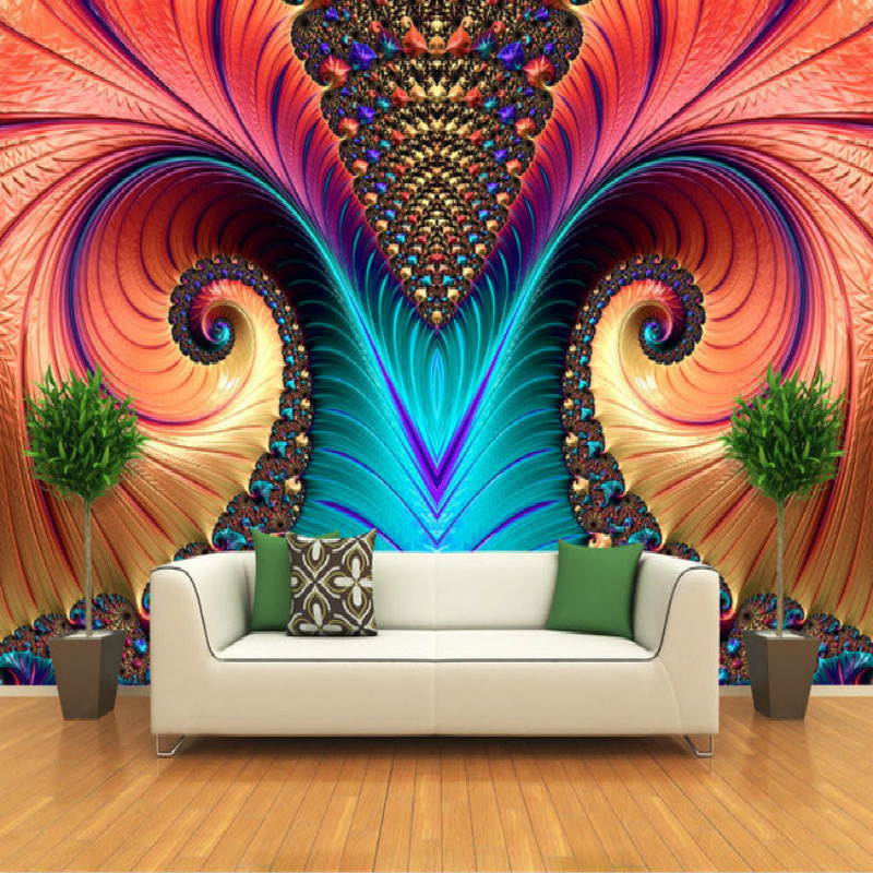 Art abstract pattern color carving large mural 3D wallpaper 3D wallpaper bedroom living room TV backdrop painting  3D wallpaper custom baby wallpaper snow white and the seven dwarfs bedroom for the children s room mural backdrop stereoscopic 3d