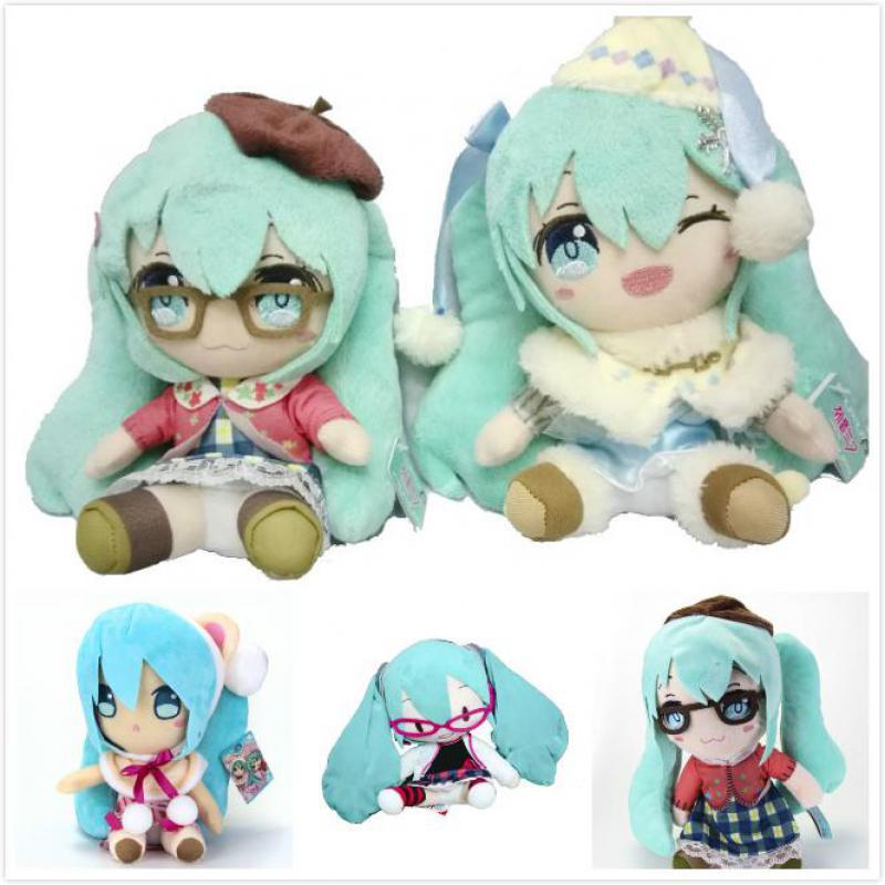 Cute Amine Hatsune Miku Snow Miku Plush Toys Soft Stuffed Figure Cosplay Dolls 5 Styles Kids Children Girls Birthday Gifts 26cm hatsune miku winter plush doll