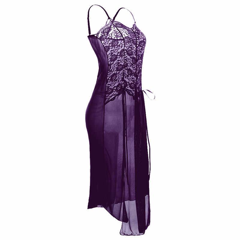2b304a7c81b ... S M L XL XXL 3XL 5XL 6XL Erotic Sexy Costumes Babydoll Dress Woman Long  Sexy Lace Lingerie ...