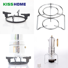 Stainless Steel Round Stove Rack Moka Pot Coffee Special Holder Cast Iron Bracket Pots Tools for Kitchen