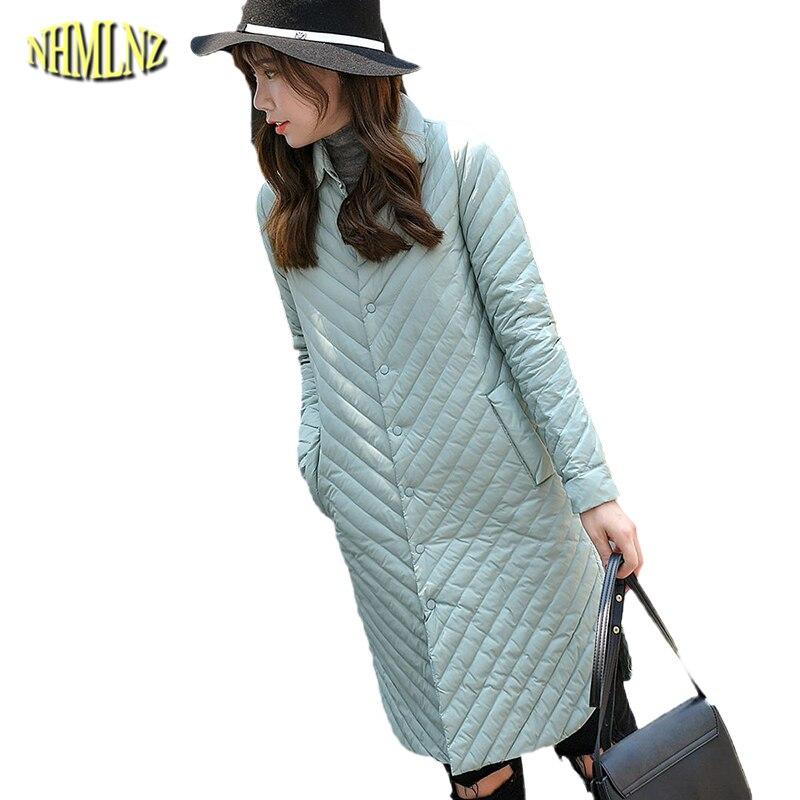 2017 Fashion Women Winter Long Jacket Korean style Slim Stand collar Slim Female Cotton Coat Solid color Long Outerwear WK326 цены онлайн