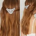 Wedding Bridal Clear Crystal Hair Pins Flower Crystal Hair Clips Bridesmaid Jewelry Wedding Bridal Accessories Hair Jewelry