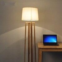 Madeira maciça nordic moderno e minimalista de madeira lâmpada assoalho novo japonês sala estar quarto estudo vertical lâmpadas madeira maciça mz139