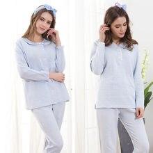 429e193a14b67 Pyjama de maternité coton pyjama enceinte ensemble maternité à manches  longues hauts et pantalons vêtements d allaitement automn.