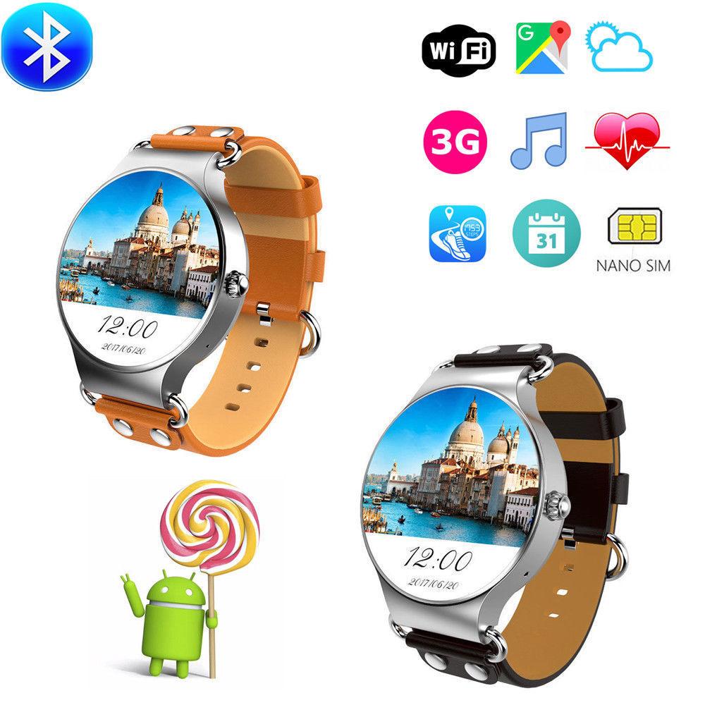 Kingwear KW98 3G <font><b>Phone</b></font> Smart Watch Android OS Quad Core 8GB GPS Sport Smartwatch 1.39&#8221; <font><b>AMOLED</b></font> HD Screen For iPhone