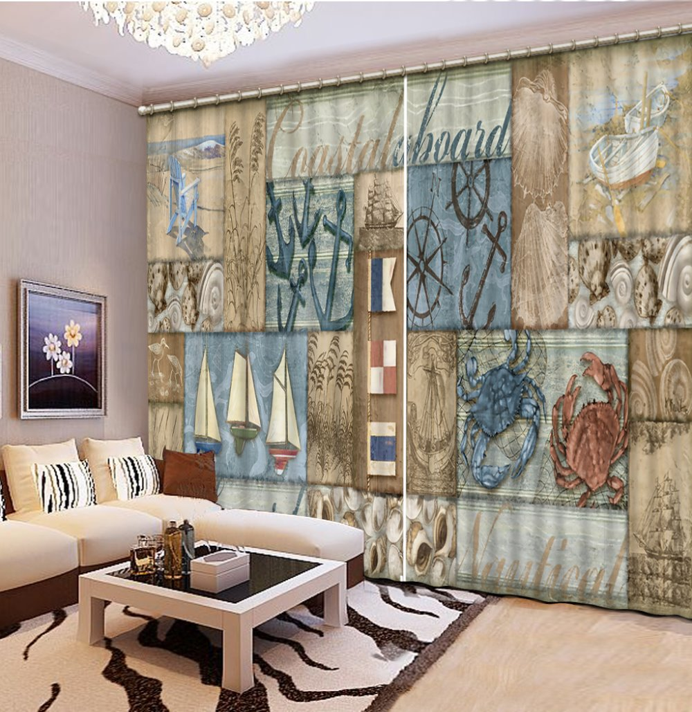 Custom 3d Curtains Living Room Underwater World Dolphin Luxury Curtains  Bedroom Curtain Patterns,french Window