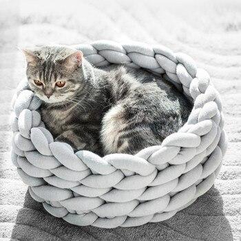 Round Washable Cat Nest  1