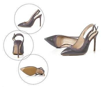 сандалии с двумя ремешками   2018 г. осенние туфли-лодочки с острым носком на пятке женская бежевая обувь из лакированной кожи на высоком каблуке свадебное платье с завязк...