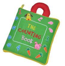 Детские молнии цифровой puzzle ткань книги распознавания номер ipper пряжкой фермы ткань книги