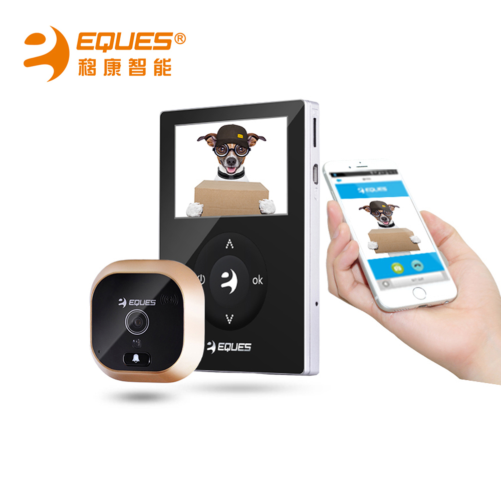 Eques digital door peephole viewer camera night vision for Door viewer camera