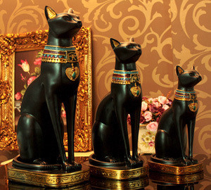 Resin Craft Decoration Home Decoration Egypt God Cats Typical Egyption Decorative Craft Three Sizes Take Home