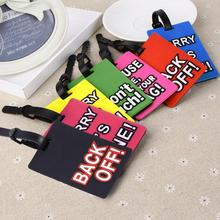 New 1pcs Rubber Funky Travel Luggage Label Straps Suitcase Name ID Address Tags Luggage Tags