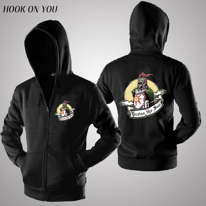 New Game Dark Souls Cardigan Hoodies Praise the sun Hooded Men Casual Winter warm dark soul Sweatshirts zipper hoody clothing