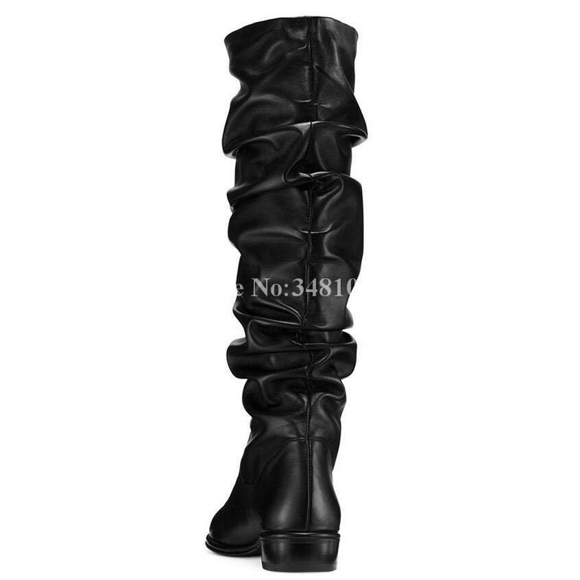 Más Punta E Rodilla Mujer Moda Otoño Ladoes Negro Plested De Redonda Top Normal As Tamaño Zapatos Invierno Venta Nuevo Pisos Botas Picture OXz5xYwqq6