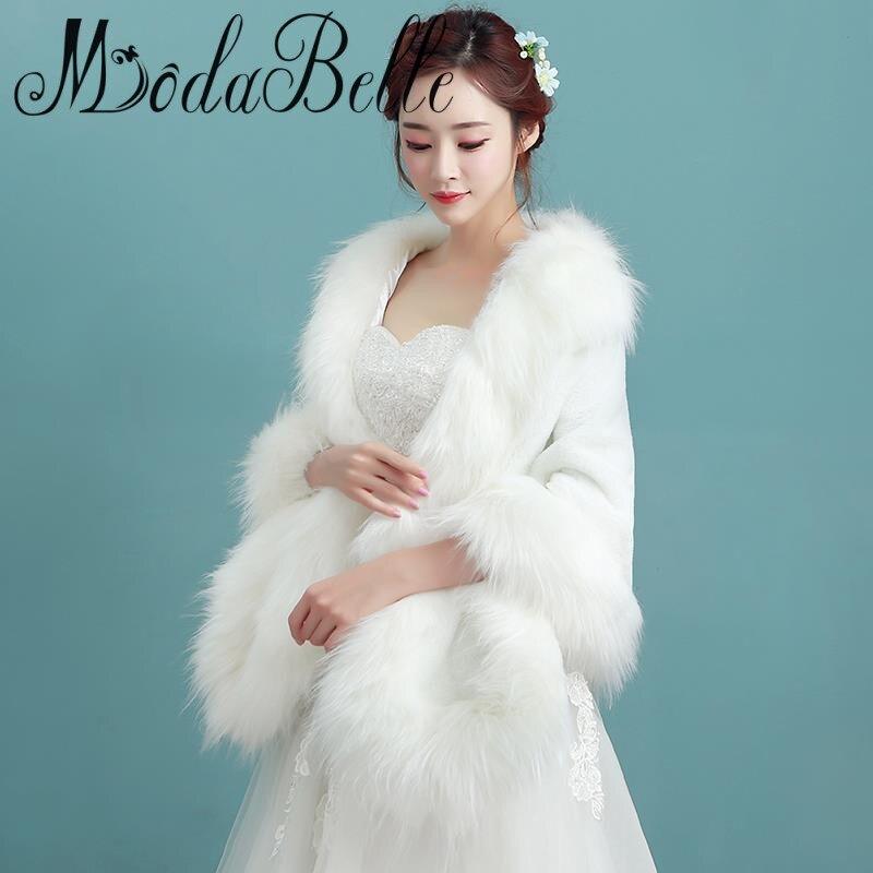 arriving fresh styles hot products Modabelle cappotto di pelliccia da sera da sposa stole e ...