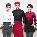 HOT!Chef's Long Sleeve Uniform New hotel Kitchen Work Clothes Chef Work Clothing