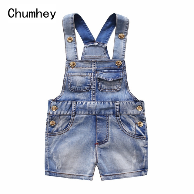76252fb9522c6 US $11.11 45% OFF|Chumhey Toddler Short Overalls Summer Boys Girls Denim  Jeans Kids Jumpsuit Infant Clothing Bebe Clothes Kids Shorts 1 2 3 4-in ...