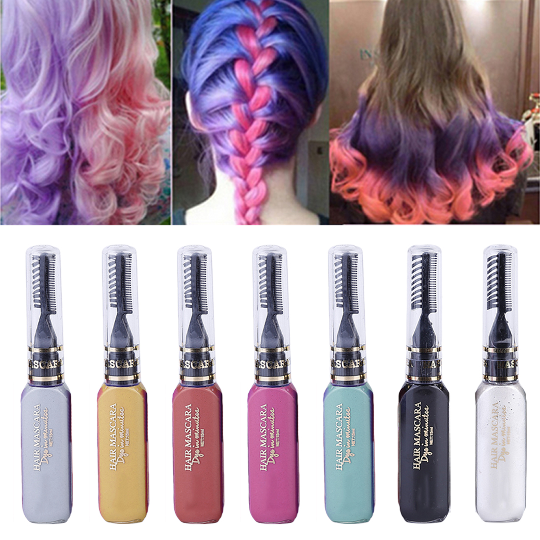 DIY  Disposable 13 Colors Hair Wax Chalks Set Temporary Color Dye Performance Costumes Halloween Christmas Party Cosplay