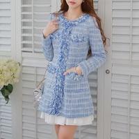 Original big kích cỡ slim elegant len lông phụ nữ mùa thu và mùa đông áo khoác nữ ladies