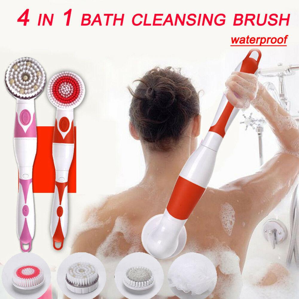 Automatic Shower Brush 4 In 1 Multifunctional Electric Bath Nursing Massage Brush Cleansing Brusher  Body Washing