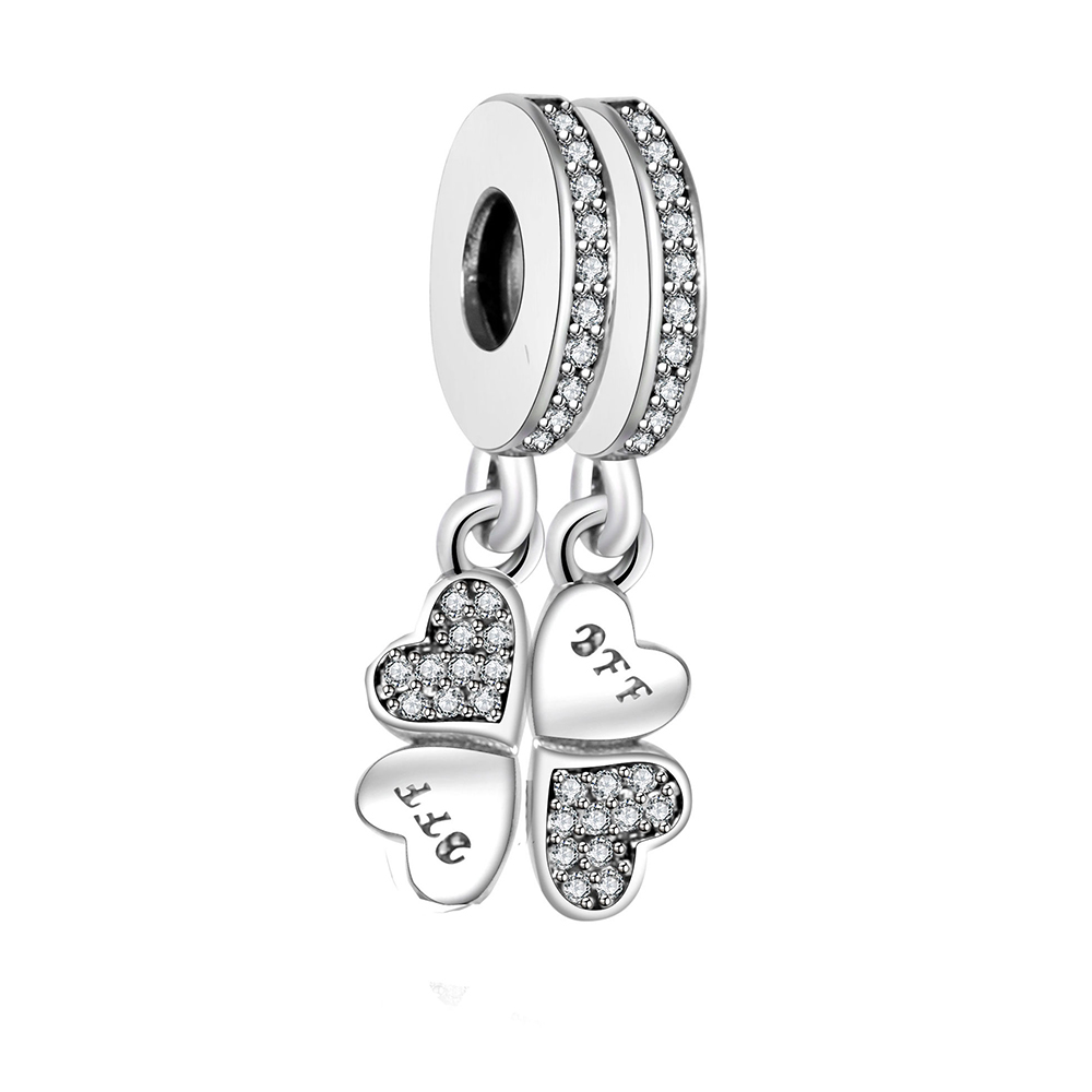 Fit Pandora Charm Original Bracelet Best Friends Forever Colgante Charm Bead 925 Sterling Silver Charm Jewelry Wholesale Berloque