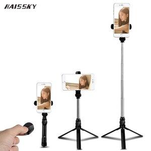 Image 1 - Bluetooth Selfie Bâton Trépied Obturateur À Distance Sans Fil Monopode Portable Pour iPhone 11 Pro Max 8 7 Plus Huawei Xiaomi Téléphone Titulaire