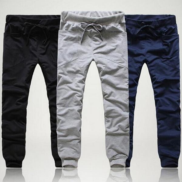 2016 Marca Nuevos Hombres de La Manera Pantalones Slim Fit Pantalones de algodón de Ocio Pantalones Pantalones de Chándal de Los Hombres