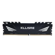 Kllisre DDR3 DDR4 4GB 8GB 16GB 1866 1600 2400 2666 2133 masaüstü bellek için ısı emici ile DDR 3 ram pc dimm tüm anakartlar için