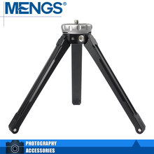 MENGS TP-09 Tabletop Mini Aluminum Tripod with 1/4″ screw For DSLR, Camcorders, Smartphones, Micro single – Silver (14100001401)