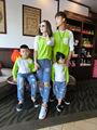 2016 new family matching outfits dad/child cotton letter long sleeve t-shirt mom and child family causal clothes dad tops