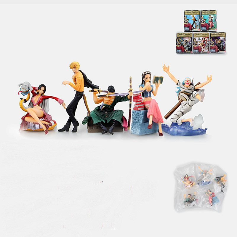 5PCS One Piece Character <font><b>Shape</b></font> Jotei Sanji Sauron Robin Bucky Box Of Eggs <font><b>PVC</b></font> <font><b>Action</b></font> <font><b>Figure</b></font> Collection Model Toy