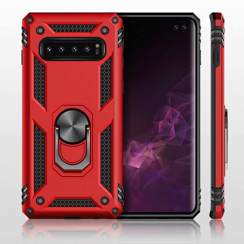 Противоударная Защитная обшивка чехол для телефона для samsung Galaxy S10 S9 S8 плюс S10E Note 9 8 J4 J6 плюс A7 2019 стенд полное покрытие оболочка