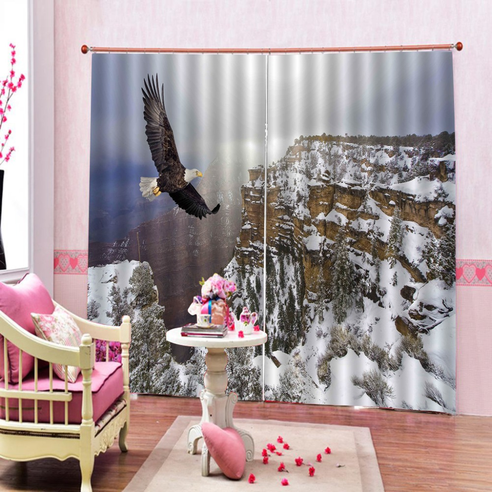 Eagle cliff 3D Curtains For Living Room Bedroom Home Decoration Customize Modern Window Curtains Eagle cliff 3D Curtains For Living Room Bedroom Home Decoration Customize Modern Window Curtains