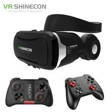 Shinecon vr гарнитура 4.0 виртуальной реальности телефон стерео 3d очки google картонная коробка для 3.5-5.5 'smartphone + mocute геймпад