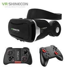 Shinecon VR  Headset 4.0 Virtual Reality Phone Stereo 3D Glasses Google Cardboard BOX for 3.5-5.5′ Smartphone + Mocute Gamepad