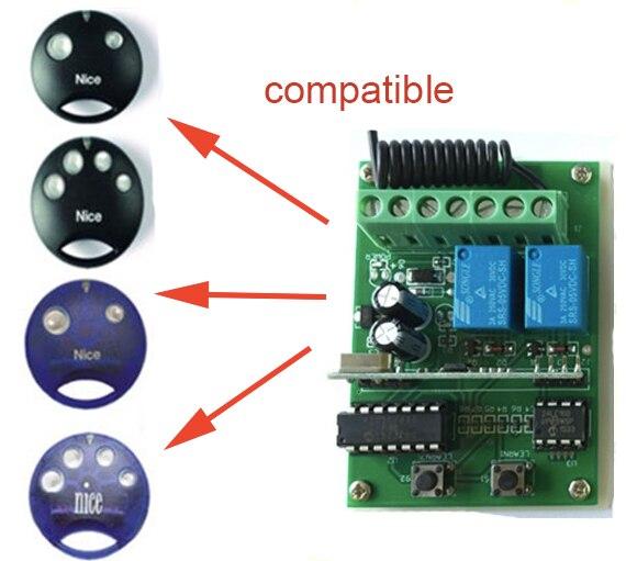 Nice SMILO receiver 433mhz DC 12-24V receiver