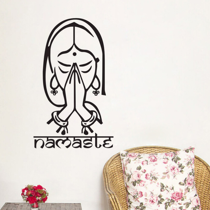 Καλώς ορίσατε Namaste Wall Decals Βινυλίου - Διακόσμηση σπιτιού - Φωτογραφία 2
