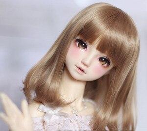 Image 2 - Perruques bouclées poire brun clair, fil haute température disponible pour 1/4 /1/3 poupées, BJD DD DY, accessoires de poupée