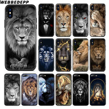 WEBBEDEPP Lion Alpha Male Cub Soft Silicone Case for Apple iPhone 11 Pro Xr Xs Max X or 10 8 7 6 6S Plus 5 5S SE TPU(China)