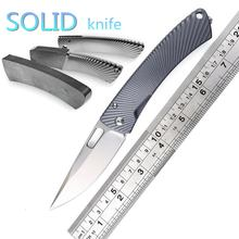 John Lion Steel TiSpine M390 blade TC4 titanium folding knife camping hunting outdoor fruit survival practical knives EDC tool