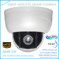 Nuevo mini AHD cámaras ptz con full hd p2p zoom motorizado lente de la cámara domo ptz, Zoom Óptico de 3x 2MP AHD Cámara PTZ Envío gratis