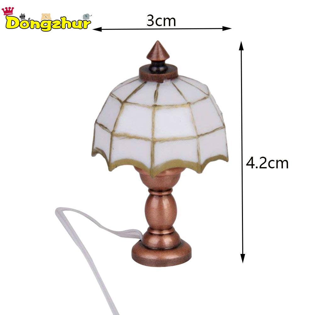 Desk Table Lamp 12 Volt Working Light Miniatures 1:12 Accessories Kids Play Toy Decor For Children Dollhouse Toy New Wwp8669 Supplement The Vital Energy And Nourish Yin Doll Houses Dolls & Stuffed Toys